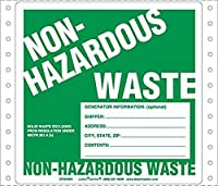 Labelmaster CFGWMV Non-Hazardous Waste Label with Generator Info Pin-Feed PVCF (Pack of 500) [並行輸入品]