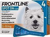 Frontline Spot On, 4 Pipette, Cane Taglia S (2 - 10 Kg), Antiparassitario...
