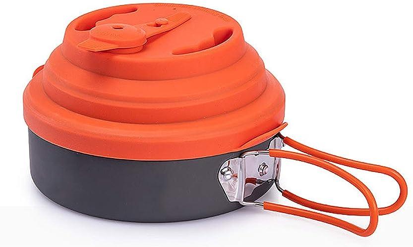 TTBF portable Camping Pot Pliable Pliable en Plein Air Multi-Fonction en Aluminium Set De Cuisine Léger Pan Voyage Voyage Randonnée Pique-Nique Trekking Randonnée
