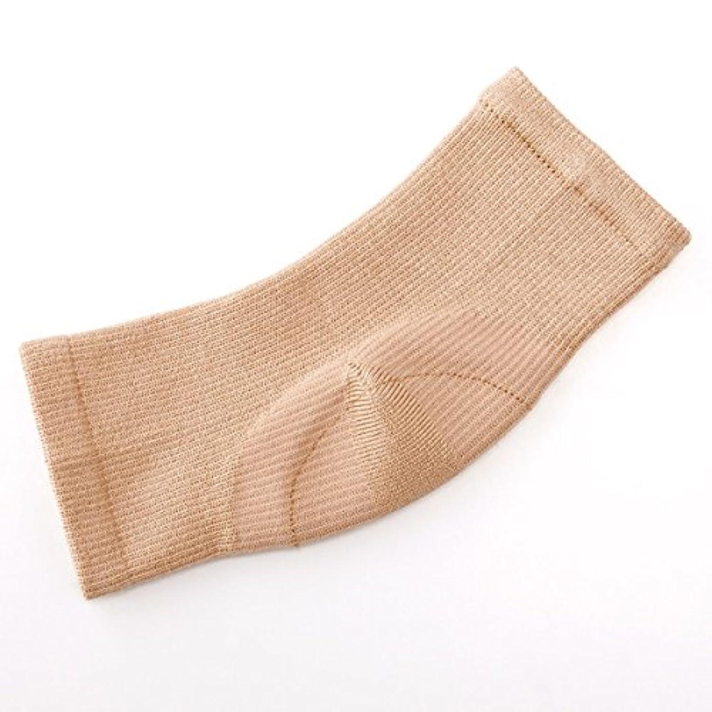 間違えた保存する超高層ビルシルク混かかと足裏つるるん シルク混 フットカバー かかと 保湿 フットケア 靴下