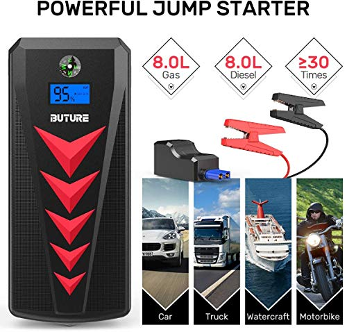 BUTURE Car Jump Starter, 2000A Peak 22000mAh Portable Car Battery Starter (up to 8.0L Gas/8.0L Diesel Engines) Auto…