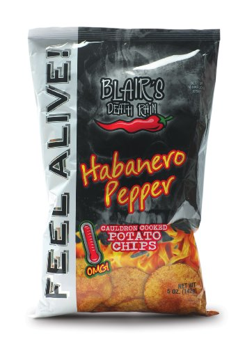Blair's Death Rain Habanero Kettle Chip, 5-Ounce Packages (Pack of 14)