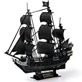 CubicFun 3D Puzzles Large Pirate Ship 26.6' Difficult Watercraft Model Ship Building Kits Toys for Adults and Teens, Queen Anne's Revenge 308 Pieces