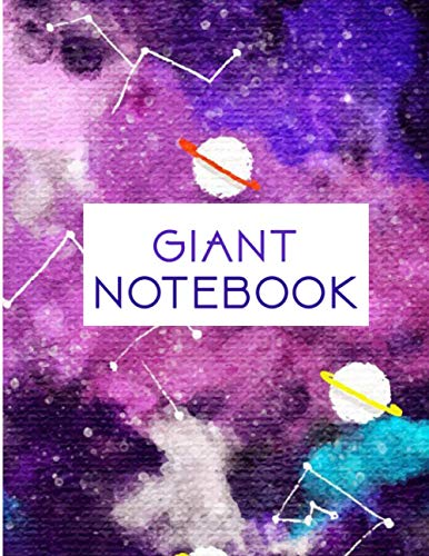 Giant Notebook: 550 Pages College Ruled - Extra Large Jumbo Journal Composition Notebook (Water Color Cover)