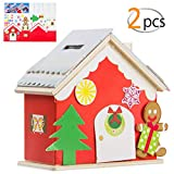 Apipi Pack of 2 Christmas DIY Gingerbread House Kit- Make-A-Gingerbread House Xmas DIY