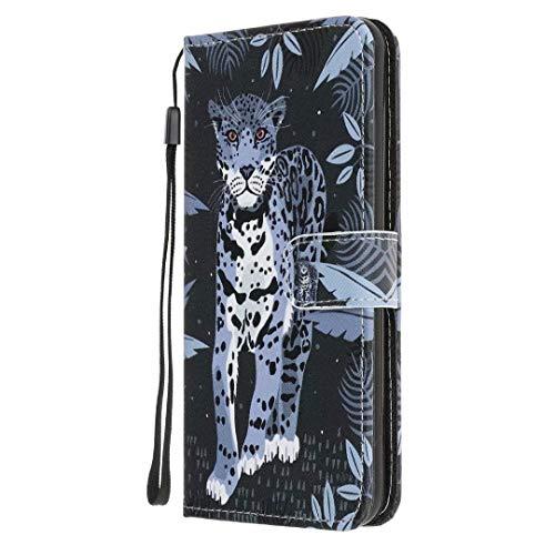 Funda para Samsung Galaxy Xcover 5, absorción de golpes, piel sintética suave, con función atril, ranura para identificación, funda protectora para Samsung Galaxy Xcover 5