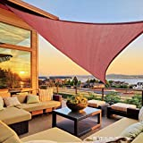 LOVE STORY 16'5'' x 16'5'' x 16'5'' Triangle Terra Red Sun Shade Sail Canopy UV Block Awning for Outdoor Patio Garden Backyard