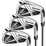 TaylorMade SIM MAX Irons, Steel Shaft, KBS Max 85, 5-PW, AW, Right Hand, Stiff Flex , Titanium, Black, Blue