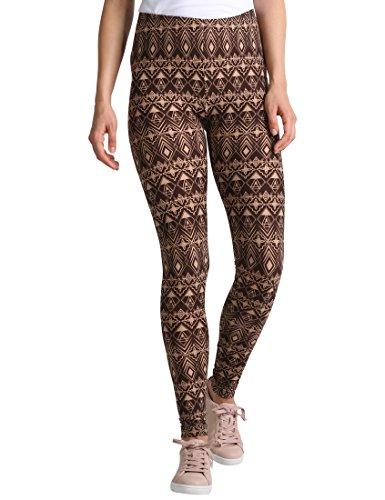 Berydale Damen Slim Legging BD313, Mehrfarbig (Braun/Beige), L