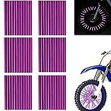 Hezhu Riflettori a Raggi, 72 Pezzi riflettori Raggi Bicicletta, Ruota Riflettori a Raggi per la Bicicletta Clip Catarifrangenti Realizzato in Materiale ABS
