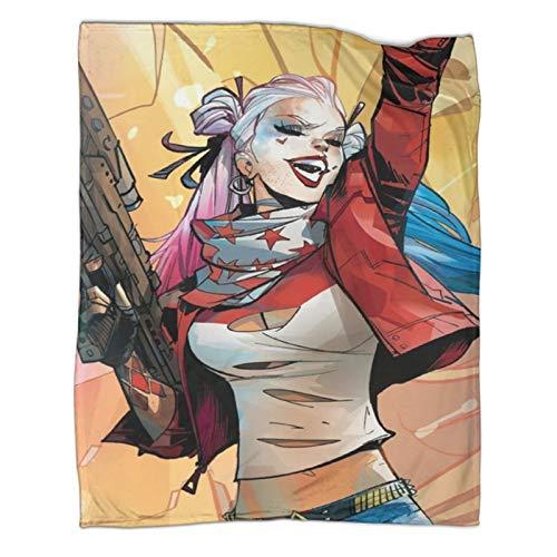 Xaviera Doherty Harley Quinn Movie Suicide Squad Sofadecke, 130 x 180 cm, weiche und bequeme Bettdecke, Kinderbettwäsche