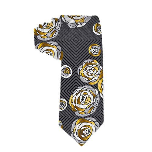 Anna-Shop Corbata para hombre Corbata Corbata Novetly Flores decorativ