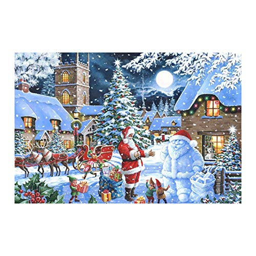 MaxFox 1000 Piece Christmas Village Paper Jigsaw Puzzle for Kids Adult,Christmas Jigsaw Puzzle Festival Gift Games Decoration (B-1)