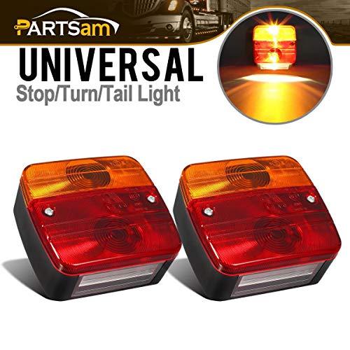 PARTSAM 2X Luces traseras para Remolque,12V, para Panel de Control de iluminación, Piloto Trasero Luz de Matrícula Placa Trasera Luz de Freno Compatible con Camión Van Caravana etc.