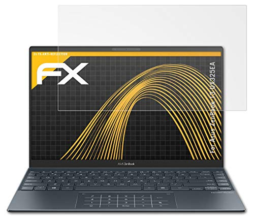 atFolix Panzerfolie kompatibel mit Asus ZenBook 13 UX325EA Schutzfolie, entspiegelnde & stoßdämpfende FX Folie (2X)
