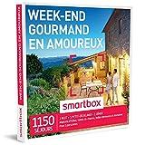 SMARTBOX - Coffret Cadeau homme femme couple - Week-end gourmand en amoureux - idée...
