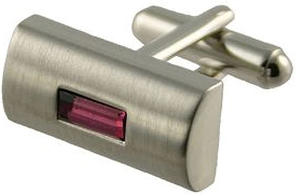 Indefinitely Select Gifts Cuff Links Amethyst Personal Limited price sale Style Engraved Crystal