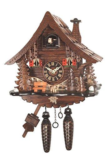 Orologio a cucù della Foresta Nera, al quarzo, con scandole in legno di Foresta Nera.