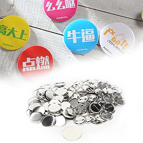Etiqueta de nome, broche de pino de botão em branco para presentes Lembranças para presentes de aniversário para crachá feito à mão para Artesanato DIY