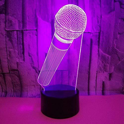 VIWIV Lámpara de Escritorio Micrófono LED gradiente de Color de luz 3D estéreo táctil Remoto USB luz de Noche mesita de Noche Decorada con imaginación Regalo de Cumplea?os 20 * 13 cm
