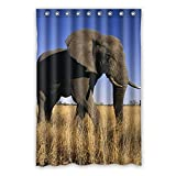 Presock Duschvorhänge, Once Young Walking Elephant Waterproof Polyester Bathroom Shower Curtain Bathroom Decoration 60