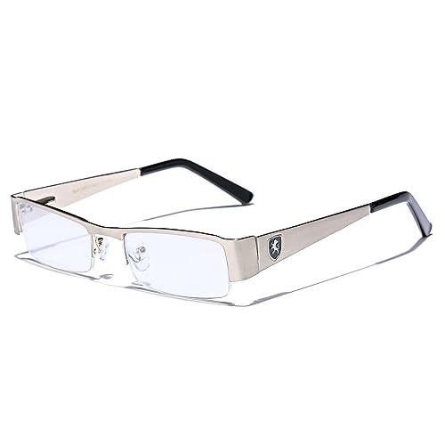 1d3d6800c6 Small Rectangular Clear UV Lens Sunglasses RX Men s Women s Eye Glasses  Flex Frame