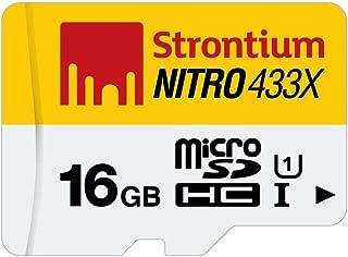 Strontium Nitro 16GB MicroSDHC Class 10 UHS-I Memory Card Up to 65MB/s (SRN16GTFU1R)
