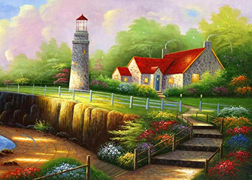 Diamond Painting by Number Round Drill Color Manor View Cross Stitch for Beginners Children Art Craft 30X40Cm