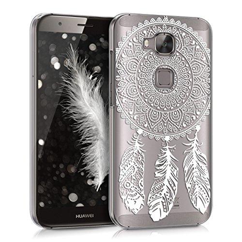 kwmobile Huawei G8 / GX8 Hülle - Handyhülle für Huawei G8 / GX8 - Handy Case in Traumfänger Design Weiß Transparent