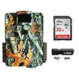 Browning Strike Force HD Pro X (2019) Trail Game Camera Bundle Includes 32GB Memory Card and J-TECH Card Reader (20MP) | BTC5HDPX