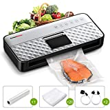 Vacuum Sealer Machine with Strong Suction, Upgraded Food Saver Vacuum Sealer with Full Automatic Bag Sealing...