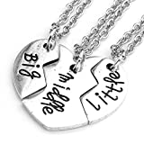 Jovivi Lot 3pièces colliers assortis «Big/Middle/Little» pour frères et sœurs ou meilleur(e)s ami(e)s [en langue étrangère]