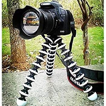 CEUTA® Gorilla Tripod 13 inch + Mobile Holder - Fully Flexible Foldable | Twist It | Bend It | Tilt It | Octopus Stand for DSLR's,Mobile Camera,Smartphone,Photography,Video Recording,Youtuber