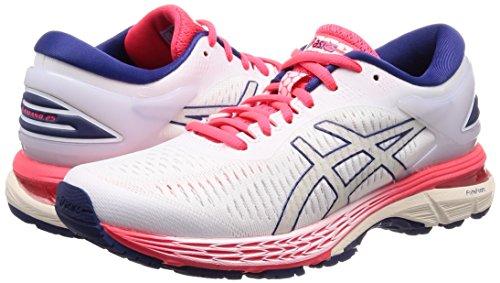 Asics Gel-Kayano 25, Zapatillas de Entrenamiento para Mujer, Blanc Blanc, 39.5 EU