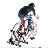 LALEO Entrenador para Bicicleta Estática Interior Entrenamiento En El Hogar 6 Velocidades Resistencia Magnética Bicicleta Entrenador Camino MTB Entrenador Bicicleta Ciclismo Rodillo