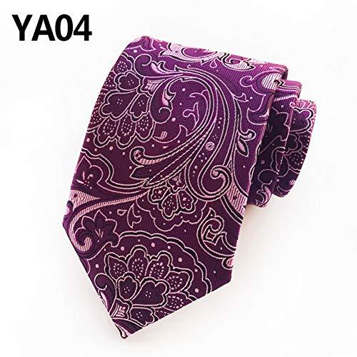 CDBGPZLD Paisley Krawatte für Männer Seidenkrawatte Designer Mode Krawatte 8cm Business Krawatte Hochzeit Herren Accessoires