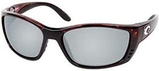 Costa Del Mar Fisch Sunglasses, Tortoise, Silver Mirror 580Plastic Lens