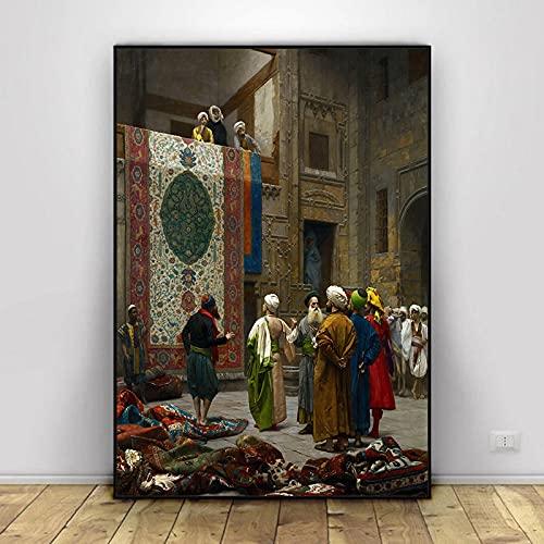Serie de Pinturas en Lienzo más Famosa del Mundo Pintor francés Jean Leon Gerome Carteles en HD Impresiones Imagen de Arte de Pared para Sala de Estar 40x50cm (15.74x19.68 in) H-663