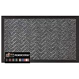 Gorilla Grip Original Durable Natural Rubber Door Mat, 29x17, Heavy Duty Doormat, Indoor Outdoor, Waterproof Easy Clean,...