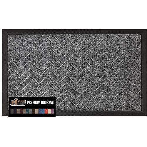 Gorilla Grip Original Durable Natural Rubber Door Mat, 29x17, Heavy Duty Doormat, Indoor...