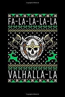 Fa-La-La-La-La Valhalla-La: Funny Christmas Viking Blank Composition Notebook for Journaling & Writing (120 Lined Pages, 6