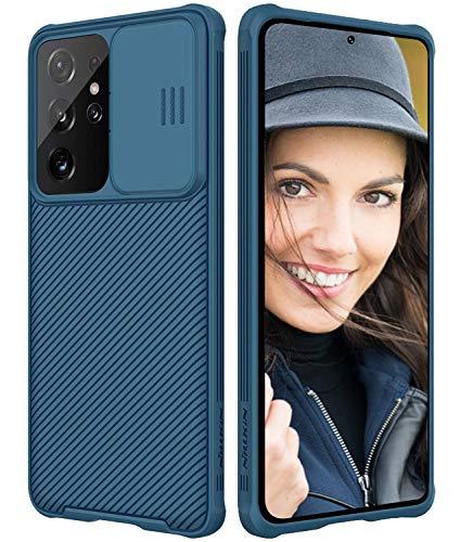 Funda para Samsung Galaxy S21 Ultra con protección para la cámara, deslizar...