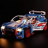 POXL Set di Luci per Auto da Rally, Kit di Illuminazione LED Luce LED Light Compatibile con Lego 42077 - Non includere Il Set Lego