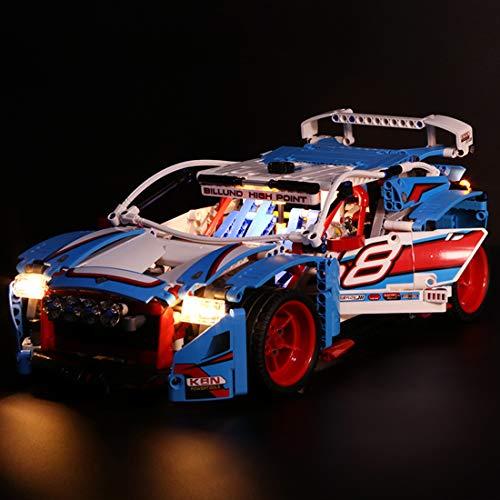 Yavso Juego de luces LED para iluminación de coche Lego 42077 Technic Rallyeauto (modelo Lego no incluido)