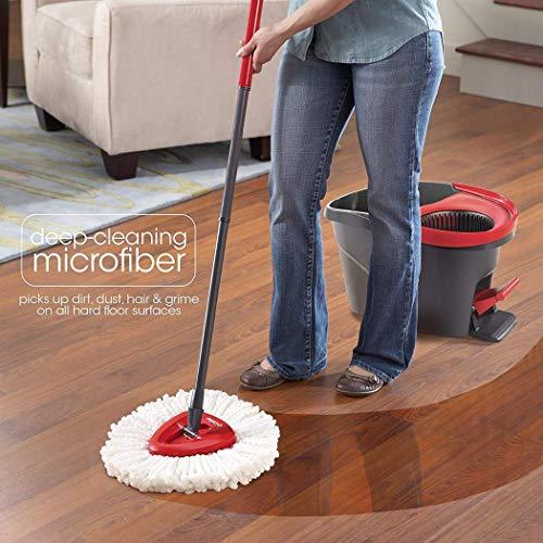 tiowea Home Haushalt Weiß Easy Wring Spin Mop Refill Reinigungswerkzeuge