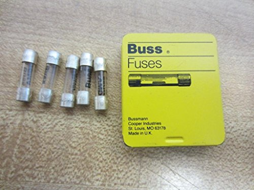 Bussmann GMA-63MA 63 Mamp Glass Fast Acting Cartridge Fuse 250 V Ul Listed, 5 Pack