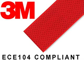 3M High Intensity Reflective Conspicuity Tape- Red, 2 Inch Width X 2 Feet