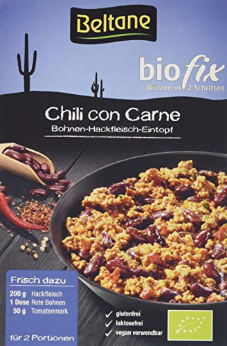 Beltane biofix Chili con Carne - 2 Portionen, 5er Pack (5 x 28 g) - Bio