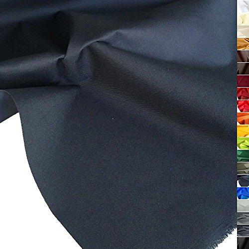 TOLKO wasserfest beschichteter Nylon Stoff | fester Segeltuch Planenstoff als Nylonplane für Aussenbereich | Reißfest und Langlebig | Meterware 150cm breit schwerer Outdoorstoff (Marine-Blau)