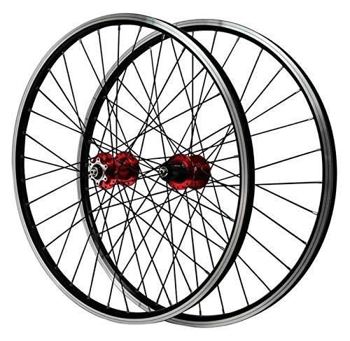 YQQQQ Rueda de Bicicleta MTB con Freno En V de 26 Pulgadas (Color : Red, Size : 26inch)
